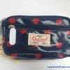 กระเป๋าถือ(เล็ก)+สายสะพาย Chalita wu สีน้ำเงินลายจุด