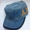 หมวกทรงทหารยีนส์เข้ม ปัก AXE
