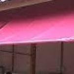 ผ้าใบชักรอก ขนาด กว้าง 3เมตร สูง 4เมตร (ไม่รวมเสาค้ำ)