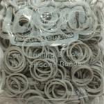 100% Silicone Loom Bands สีเทาพาสเทล 600 เส้น ( # 24 )