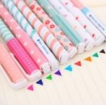 (มีหลายลายให้เลือกค่ะ) Happy Day ปากกาหมึกเจล เซ็ต 10แท่ง 10สี พร้อมกล่องใส