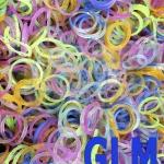 100% ซิลิโคน Loom Band รุ่นกากเพชรคละสี 600 เส้น (GLM)