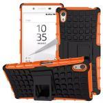 เคส Xperia Z5 แบบ Tire Grain Slim Armor Shockproof Case - สีส้ม