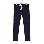 กางเกงฮาเร็ม เอวมีเชือกปรับระดับได้ สีดำ Size M