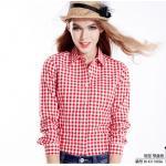 เสื้อเชิ้ตลายสก๊อตเล็กรุ่น 2 สีแดงขาว Size S