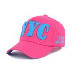 หมวกเบสบอลปักตัวอักษร NYC