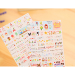 (Set 6แผ่น) Drawing Market Sticker สติ๊กเกอร์เซ็ตวาดมือ