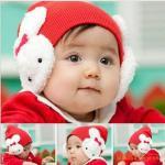 หมวกปอม ๆ กระต่ายแดง