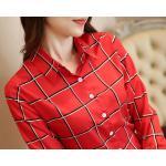 เสื้อเชิ้ตลายแดง Size M