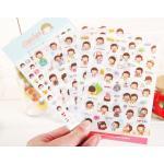 (เซ็ต 6 แผ่น) Momoi Sticker ver.2