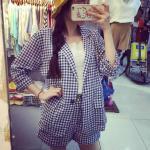Set MiNi L O V E เสื้อสูท+กางเกง Size S