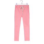 กางเกงฮาเร็ม เอวมีเชือกปรับระดับได้ สีชมพู Size M