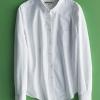 เสื้อเชิ้ตสีพื้นผ้า Oxford ทรง classic สีขาว