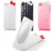 ขายส่ง : Case iPhone 5/5s Hello Kitty ติดโบว์ ฝาเปิดมีกระจก