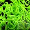 100% Silicone Loom Band สีGreen Apple (แอปเปิ้ลเขียว) 600เส้น ( # 27 )