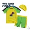 VIVO-BINIYA ชุดว่ายน้ำเสื้อ+กางเกงไดโนเสาร์ +หมวก 100