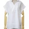 เสื้อเชิ้ตแขนสั้นพับ หน้าสั้นหลังยาว สีขาว(White)