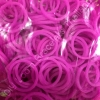 100% ซิลิโคน Loom Bands สีม่วงอมชมพู 600 เส้น ( # 15 )