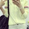เสื้อเชิ้ต แขนแต่งคาดแถบ 3 สี สีเหลือง(Yellow)