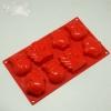แม่พิมพ์ซิลิโคน รูปสโนว์แมน นางฟ้า เพนกวิน 6 ช่อง 70-100g