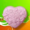 แม่พิมพ์สบู่ รูปหัวใจดอกไม้ 80g