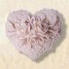 แม่พิมพ์ รูปหัวใจดอกไม้ (110 g)