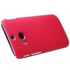 เคส HTC One M8 Nillkin Frosted Case - สีแดง +ฟิล์มกันรอย