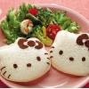 D.I.Y Hello Kitty Sandwich Cutter พิมพ์กดขนมปัง รูปหน้าคิตตี้ มีช่องโรยโกโก้