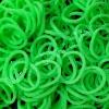 100% Silicone Loom Bands สีเขียวแอปเปิ้ล 600 เส้น ( # 18 )