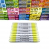 ปากกาเน้นข้อความ JAVA Duplex Mild Color- Pastel Yellow