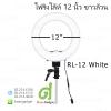 ไฟริงไล้ท์ 12 นิ้ว ไฟต่อเนื่อง ไฟแต่งหน้า ไฟถ่ายรูป RL-12W LED Ring Light 5500K สีขาวล้วน