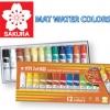 สีน้ำซากุระ Sakura Mat Water Colors 12 cc -12 colors