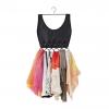*Spacial Sale 60%* Boho Dress Scarf Organizer ที่จัดเก็บผ้าพันคอ รูปชุดเดรส สีดำ