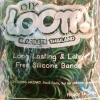 100% Silicone Loom Bands สีเขียวทหาร 600 เส้น ( # 22 )