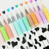 Milky Color Gel Pen ปากกาหมึกเจลลายวัวน้อย 12สี