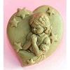 แม่พิมพ์สบู่ รูปหัวใจ+เด็กผู้หญิงขอพร 80g