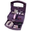 Jewelry Boxes กล่องจัดเก็บเครื่องประดับ มีลิ้นชัก พร้อมตัวล็อคกุญแจ สีม่วงเข้ม