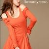 เสื้อเปิดไหล่สีส้มkorean