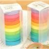 Rainbow Mini Masking Paper Tape เทปกาวสีน่ารัก (เซ็ต 10 ชิ้น)