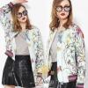 เสื้อแจ็คเกท งานแบรนด์ Gucci ผ้าคอตตอนเนื้อดีพิมพ์ลายดอกไม้สดใส