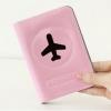 Happy Flight Passport Cover ปกพาสปอร์ต พิมพ์ลายเครื่องบิน สีชมพู
