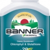 Banner Chlorophyll & Glutathione 100 แคปซูล อุดมไปด้วยกรดอะมิโน คลอโรฟิลล์และกลูตาไธโอน รวม 20 ชนิด