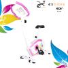 จักรยานนั่งปั่นออกกำลังกาย ในบ้าน ระบบแม่เหล็ก รุ่น ex-02 สีขาว-ชมพู Glossy