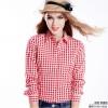 เสื้อเชิ้ตลายสก๊อตเล็กรุ่น 2 สีแดงขาว(Red-White)