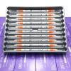 ปากกาสี 2 หัว ZIG CLEAN COLOR F No.002 - Orange Fluorescent
