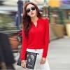 เสื้อเชิ้ตชีฟองสาปหลอก สีแดง