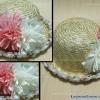 หมวกชาลีสานประดับดอกไม้
