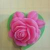 แม่พิมพ์สบู่ รูปดอกกุหลาบ (80 g) 7*6.9*3 cm