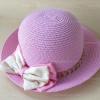 หมวกปีกกว้าง ทรงระฆัง สีชมพู