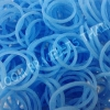 100% Silicone Loom Bands สีฟ้าคราม 600 เส้น ( # 5 )